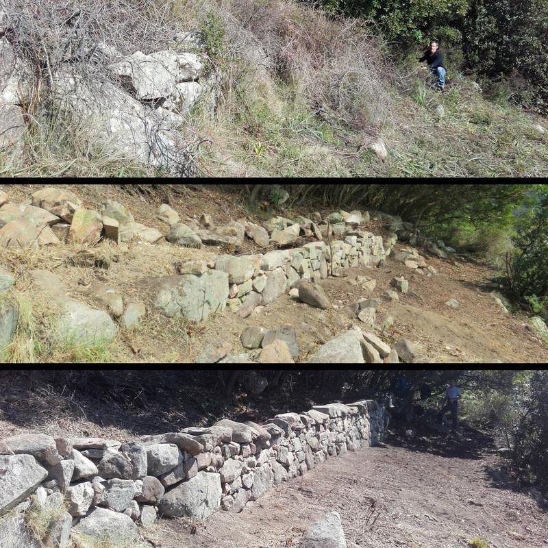 Restauration des murets en pierres sèches